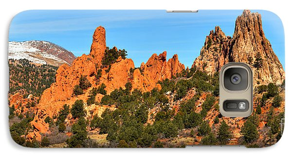 Galaxy Case featuring the photograph Garden Of The Gods High Point Panorama by Adam Jewell