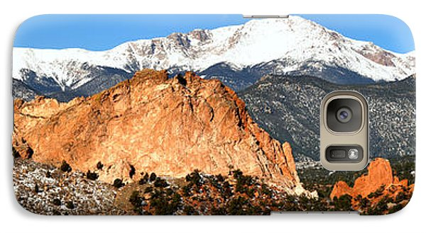 Galaxy Case featuring the photograph Garden Of The Gods Medium Panorama by Adam Jewell