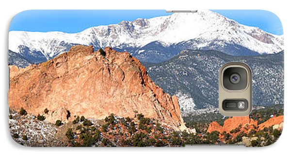 Galaxy Case featuring the photograph Garden Of The Gods Panorama by Adam Jewell
