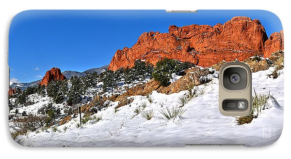 Galaxy Case featuring the photograph Garden Of The Gods Red And White by Adam Jewell