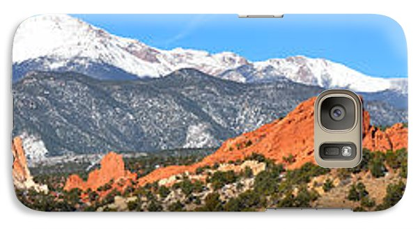 Galaxy Case featuring the photograph Garden Of The Gods Red Rock Panorama by Adam Jewell