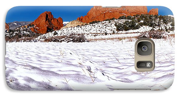 Galaxy Case featuring the photograph Garden Of The Gods Snowy Morning Panorama by Adam Jewell