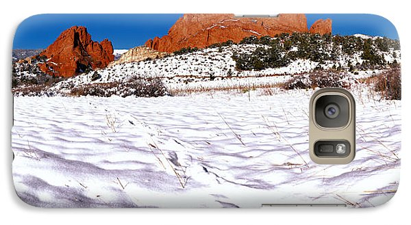 Galaxy Case featuring the photograph Garden Of The Gods Snowy Morning Panorama Crop by Adam Jewell