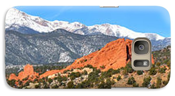 Galaxy Case featuring the photograph Garden Of The Gods Spring Panorama by Adam Jewell
