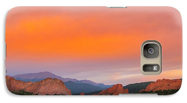 Galaxy Case featuring the photograph Garden Of The Gods Sunset by Tim Reaves