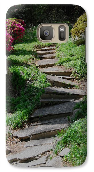 Galaxy Case featuring the photograph Garden Path by Linda Mesibov