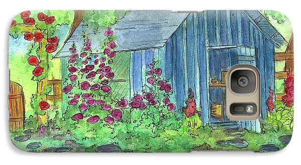 Galaxy Case featuring the painting Garden Potting Shed by Cathie Richardson
