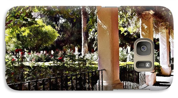 Galaxy Case featuring the photograph Garden Promenade - San Fernando Mission by Glenn McCarthy Art and Photography