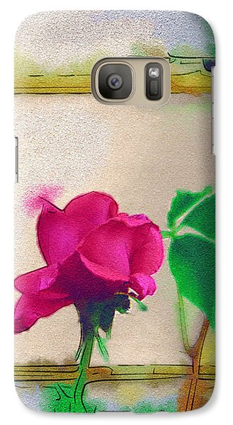 Galaxy Case featuring the digital art Garden Rose by Holly Ethan