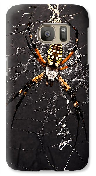 Galaxy Case featuring the photograph Garden Spider And Web by Tamyra Ayles