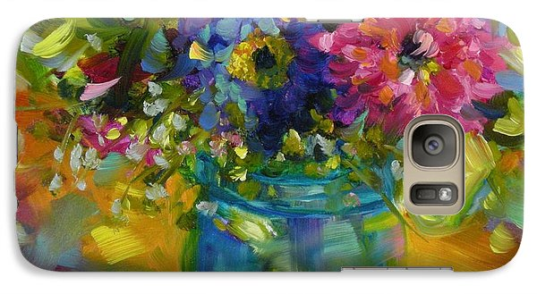 Galaxy Case featuring the painting Garden Treasures by Chris Brandley