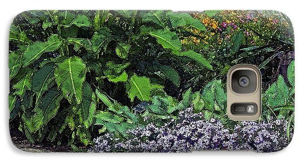 Galaxy Case featuring the photograph Garden Wall by Ken Frischkorn