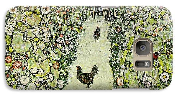 Garden With Chickens Galaxy S7 Case by Gustav Klimt