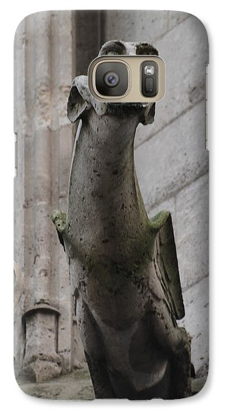 Galaxy Case featuring the photograph Gargoyle Notre Dame by Christopher Kirby