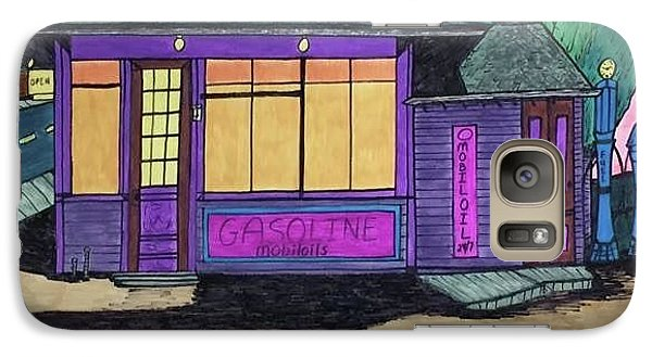 Galaxy Case featuring the drawing Gasoline Alley Mobil Oil. Historic Menominee Art. by Jonathon Hansen