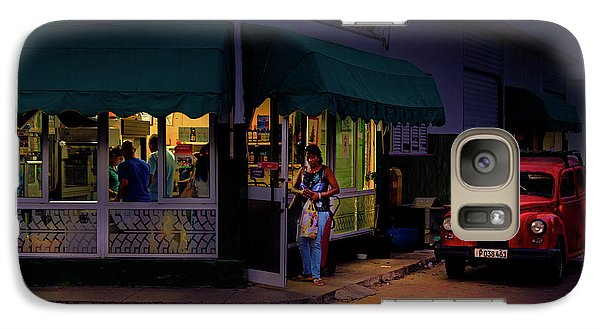 Galaxy Case featuring the photograph Gasolinera Linea Y Calle E Havana Cuba by Charles Harden
