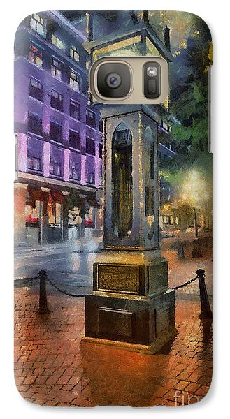 Galaxy Case featuring the digital art Gastown Sreamclock 1 by Jim  Hatch