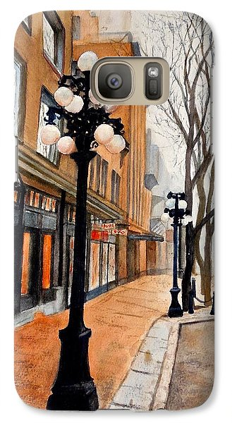 Galaxy Case featuring the painting Gastown, Vancouver by Sher Nasser