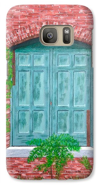 Galaxy Case featuring the painting Gateway To The Past by Cynthia Morgan