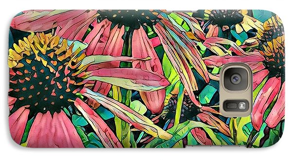 Galaxy Case featuring the photograph Gathering Of Coneflowers by Diane Miller
