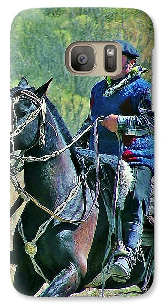 Galaxy Case featuring the photograph Gaucho On Horse by Michele Penner