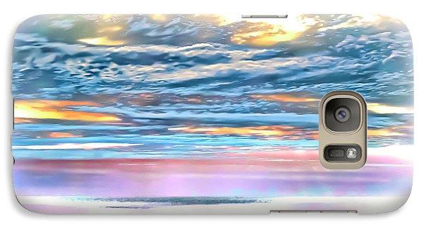 Galaxy Case featuring the photograph Gauzy Sunset by Walt Foegelle