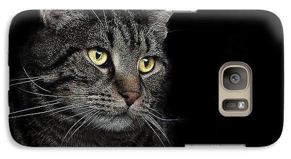 Cat Galaxy S7 Case - Gaze  by Paul Neville