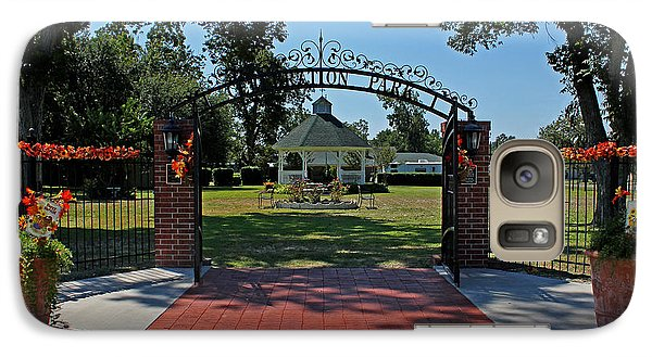 Galaxy Case featuring the photograph Gazebo At Celebration Park by Judy Vincent