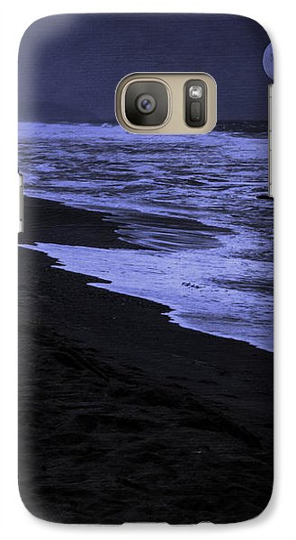 Galaxy Case featuring the photograph Gazing At The Moon by Diane Schuster
