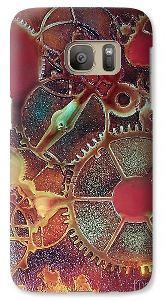 Galaxy Case featuring the painting Gear Works by Suzanne Canner