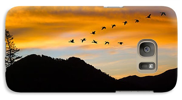 Galaxy Case featuring the photograph Geese At Sunrise by Shane Bechler