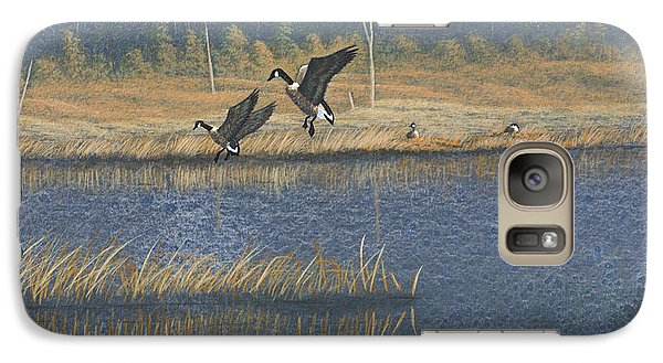 Galaxy Case featuring the painting Geese by Richard Faulkner