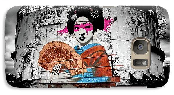 Galaxy Case featuring the photograph Geisha Graffiti by Adrian Evans