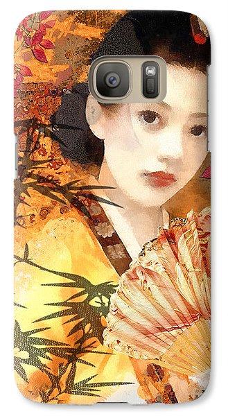 Mo Galaxy S7 Case - Geisha With Fan by Mo T
