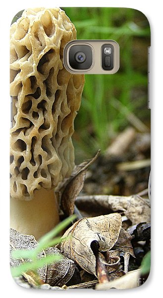 Galaxy Case featuring the photograph Gem Of The Forest - Morel Mushroom by Angie Rea