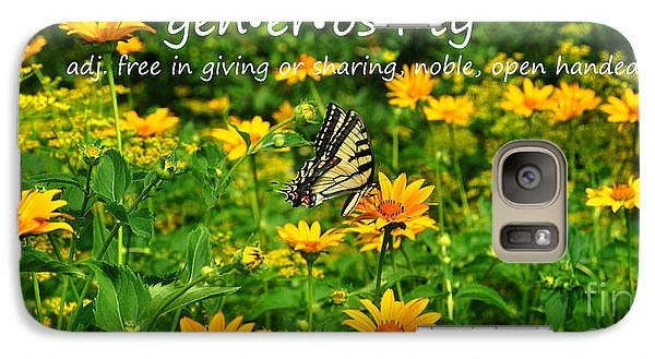 Galaxy Case featuring the photograph Gen Er Os I Ty  by Diane E Berry