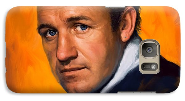 Galaxy Case featuring the painting Gene Hackman by Sam Shacked