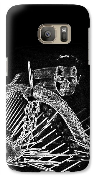 Galaxy Case featuring the mixed media Gene Krupa by Charles Shoup