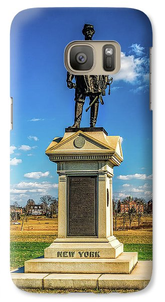 Galaxy Case featuring the photograph General Abner Doubleday - Gettysburg National Park by Nick Zelinsky