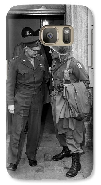 Galaxy Case featuring the photograph General Eisenhower And General Ridgway  by War Is Hell Store