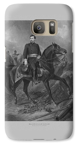 Galaxy Case featuring the mixed media General George Mcclellan On Horseback by War Is Hell Store