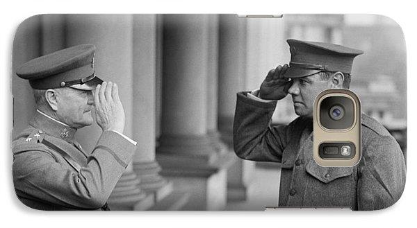 General John Pershing Saluting Babe Ruth Galaxy S7 Case
