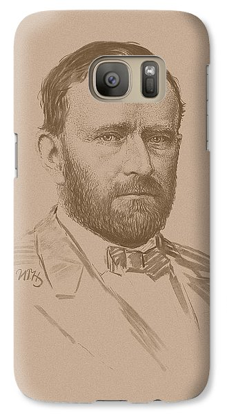 Galaxy Case featuring the mixed media General Ulysses S Grant by War Is Hell Store