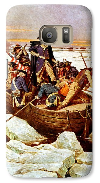 General Washington Crossing The Delaware River Galaxy S7 Case by War Is Hell Store