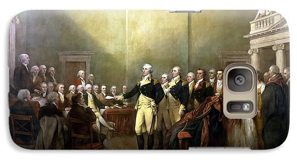 Politicians Galaxy S7 Case - General Washington Resigning His Commission by War Is Hell Store