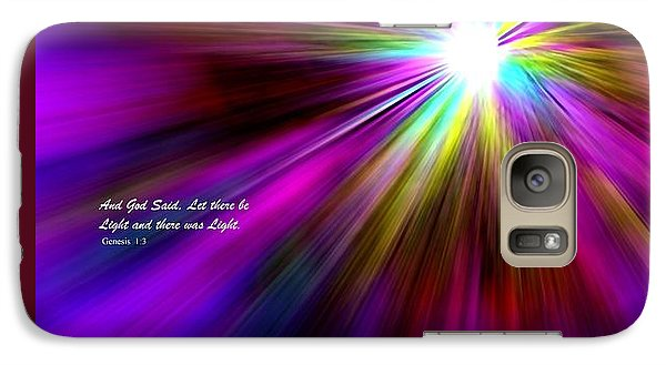 Galaxy Case featuring the digital art Genesis 1 Verse 3 by Greg Moores