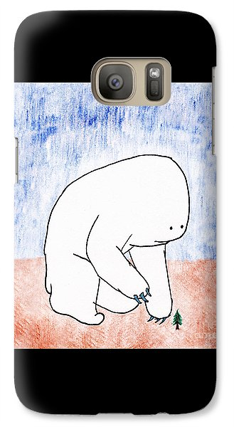 Galaxy Case featuring the drawing Gentle Giant by Uncle J's Monsters