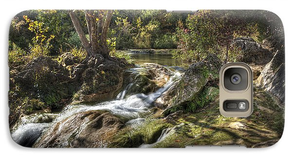 Galaxy Case featuring the photograph Gentle Mountain Stream by Tamyra Ayles