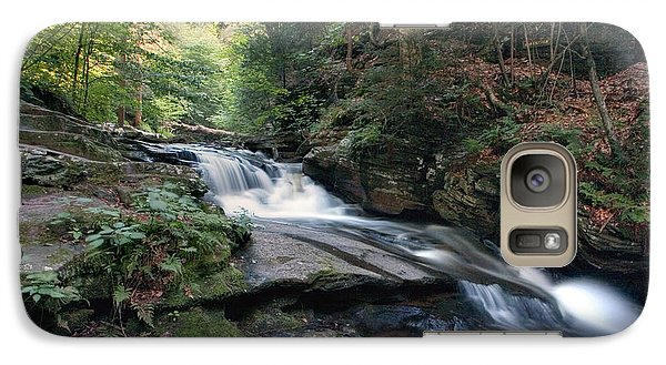 Galaxy Case featuring the photograph Gentle Summer Flow Over Conestoga Falls by Gene Walls