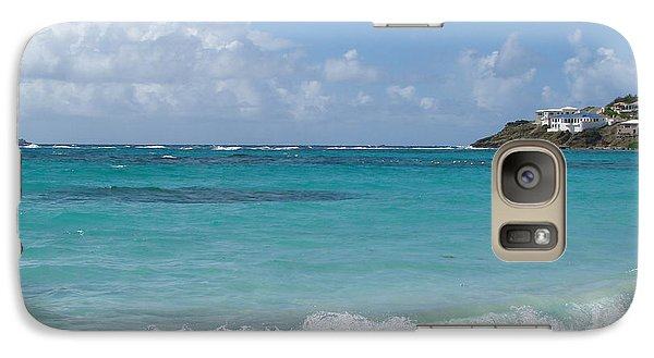 Galaxy Case featuring the photograph Gentle Wave On Dawn Beach by Margaret Bobb